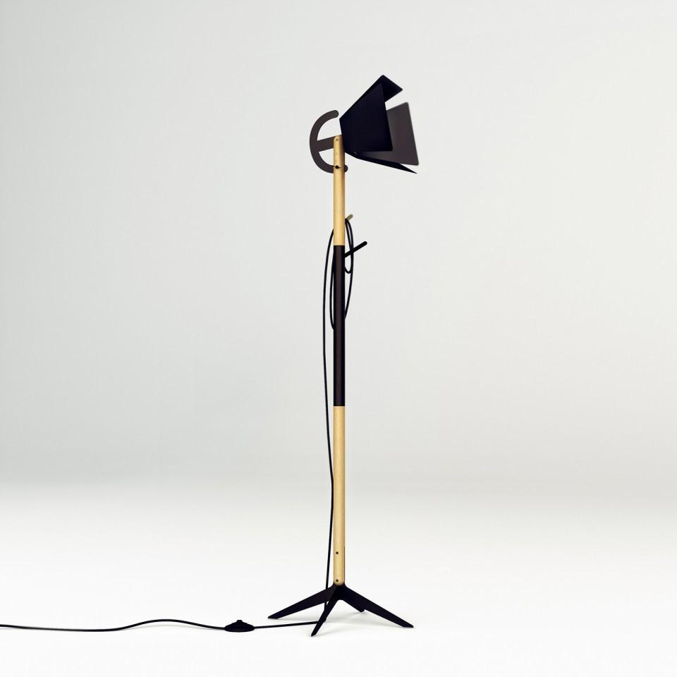 напольный светильник,вешалка blackwork