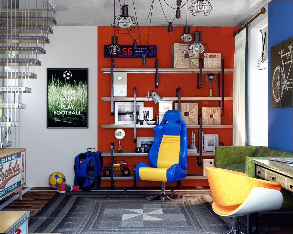 """дизайн проект """"ДОМ -Н"""" комната подростка"""