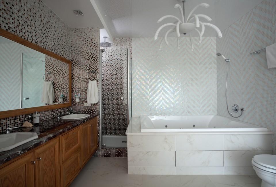 дизайн проект квартира с террасой , ванная комната