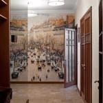 дизайн проект квартира с террасой , прихожая