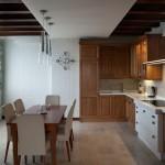 дизайн проект квартира с террасой , кухня- столовая