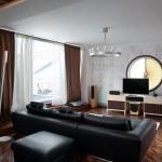 дизайн проект квартира с террасой , гостиная