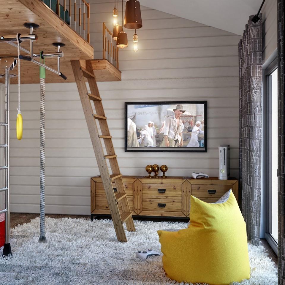 """дизайн проект дома """"ТЕРЕМ"""", детская ."""