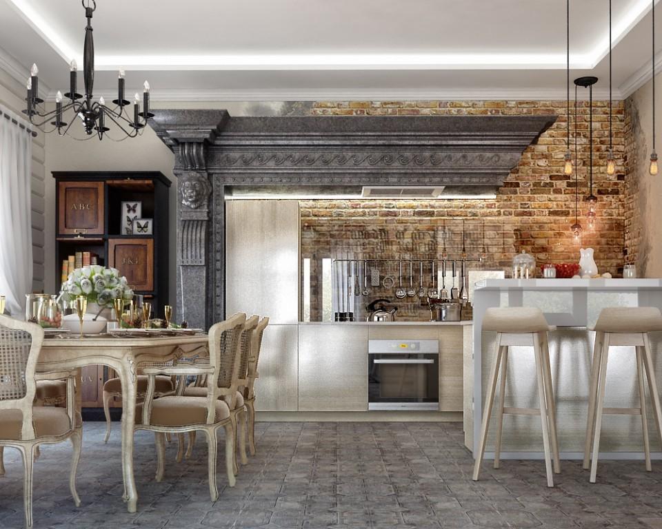 "дизайн проект дома ""ТЕРЕМ"", кухня."