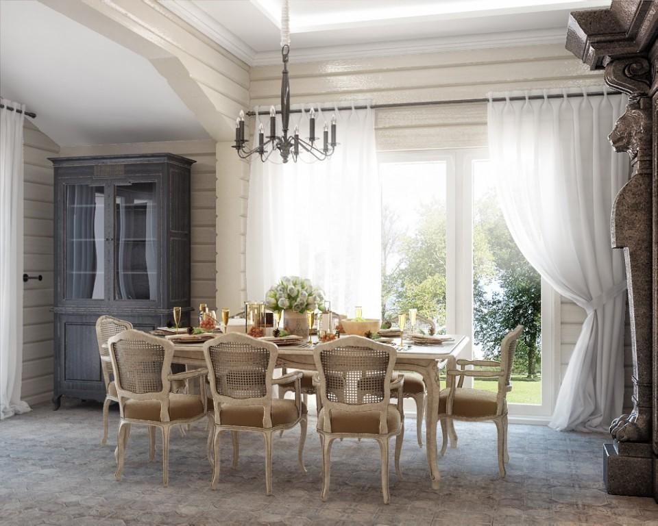 """дизайн проект дома """"ТЕРЕМ"""", кухня, столовая."""