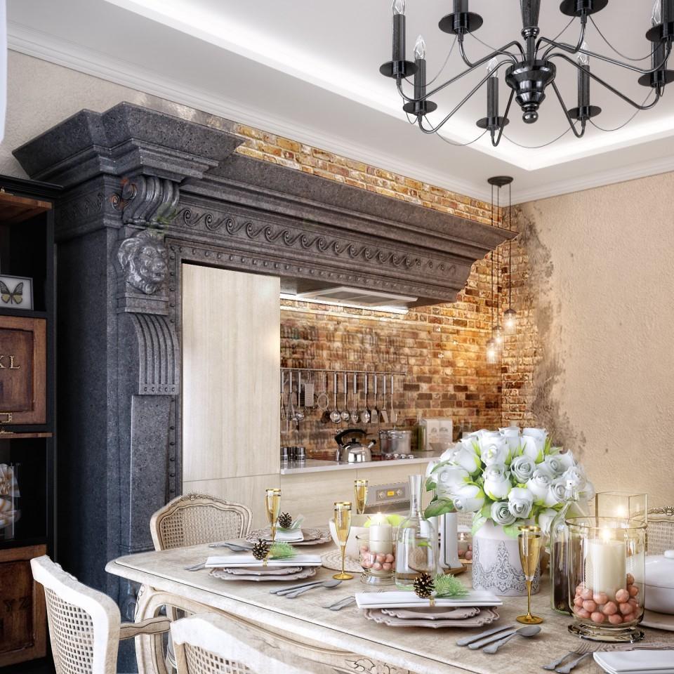 """дизайн проект дома """"ТЕРЕМ"""", кухня, детали."""