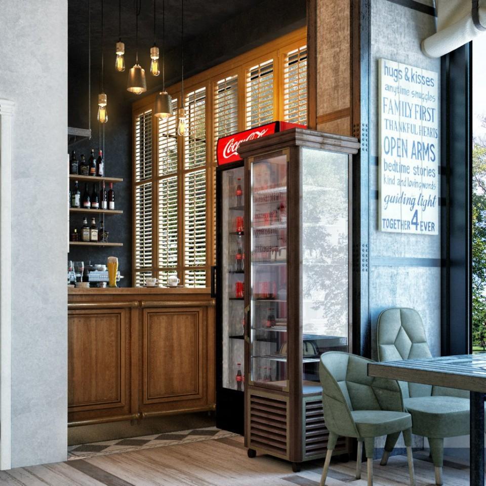дизайн проект ресторана МАМА, Киев