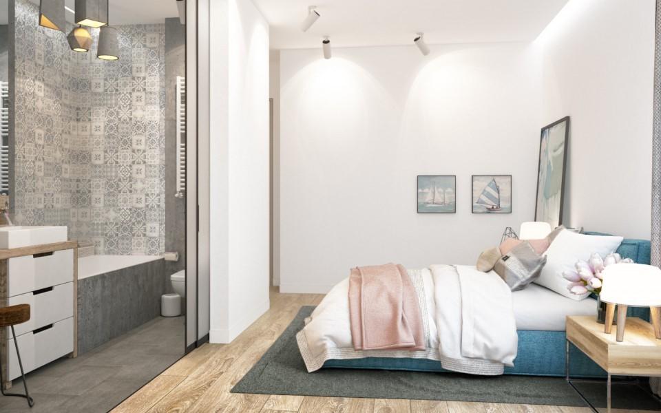 дизайн проект квартиры МОЛОДОСТЬ , спальня