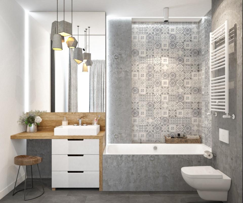 дизайн проект квартиры МОЛОДОСТЬ , ванная комната