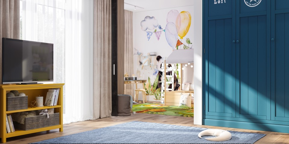 интерьер, дизайн, двухуровневая, дизайн интерьера, проект, разработка, современный, современный интерьер, светлый, белый, квартира, загородный дом, частный дом, детская