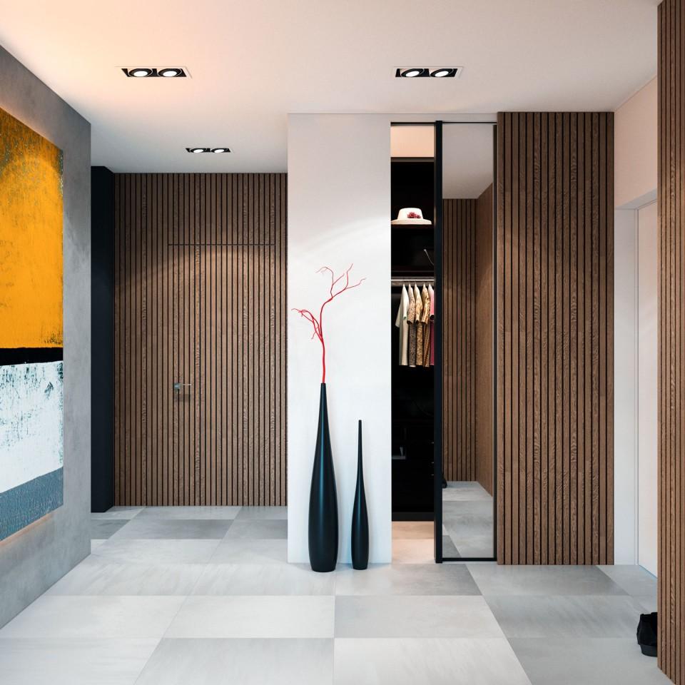 дизайн, проект, интерьер, квартира, ремонт, прихожая, холл, современный, стильный, квартира для молодой девушки, молодежный интерьер, деревянный, светлый