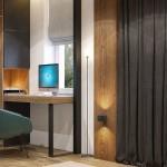 дизайн, проект, интерьер, гардероб, спальня, современный, дизайн интерьера, перспектива