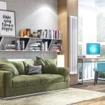 дизайн, проект, интерьер, кабинет, гостевая, современный, дизайн интерьера, перспектива