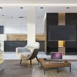 дизайн, проект, интерьер, гостиная, кухня, современный, дизайн интерьера, перспектива