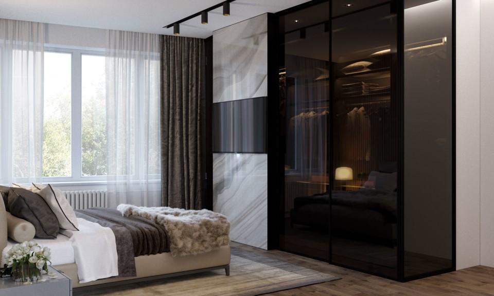 интерьер, дизайн, дизайн интерьера, проект, разработка, современный, современный интерьер, светлый, белый, квартира, загородный дом, частный дом, спальня