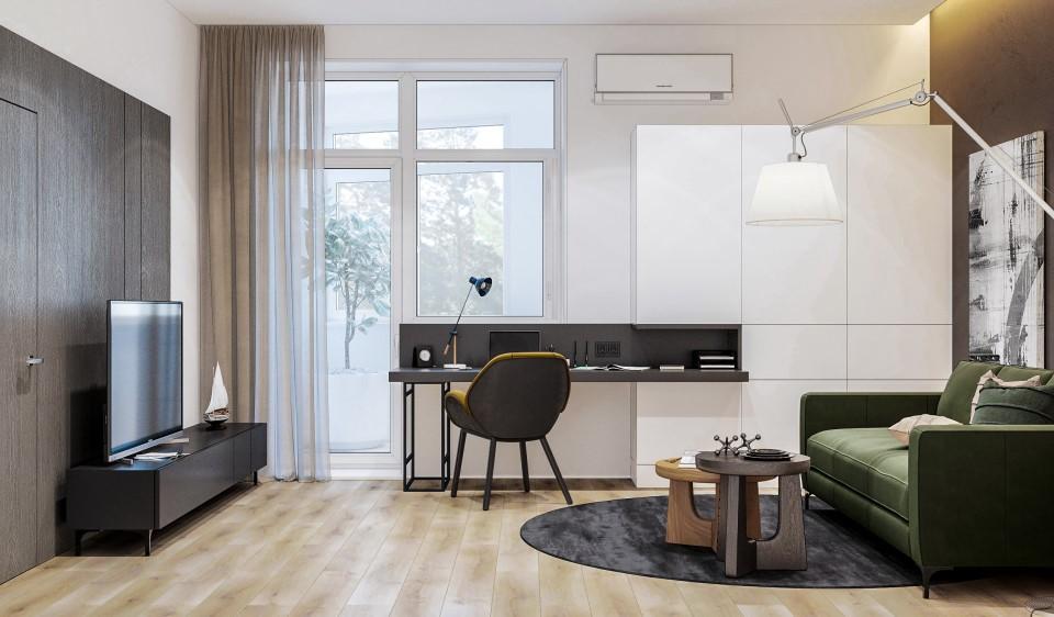 интерьер, дизайн, дизайн интерьера, проект, разработка, современный, современный интерьер, светлый, белый, квартира, загородный дом, частный дом, кабинет