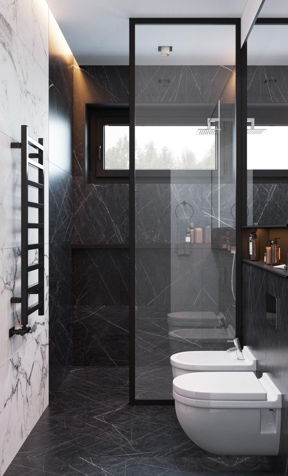 интерьер, дизайн, дизайн интерьера, проект, разработка, современный, современный интерьер, темный, зеленый, загородный дом, частный дом, санузел, гостевой санузел