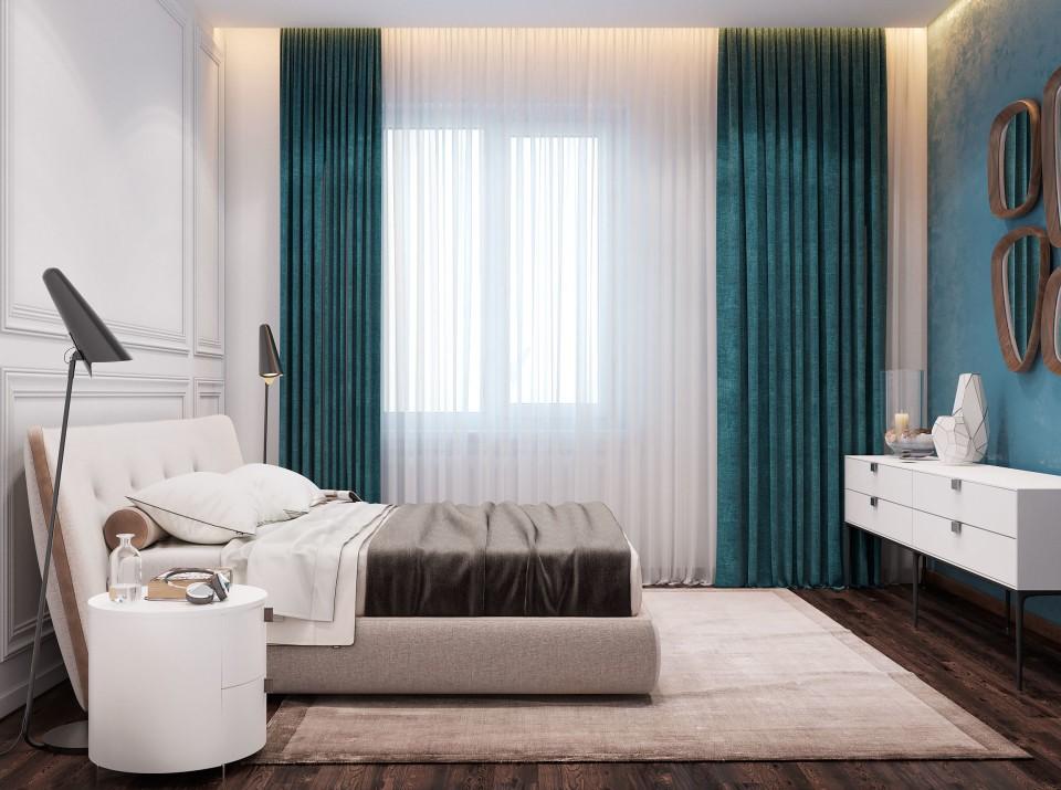 интерьер, дизайн, двухуровневая, дизайн интерьера, проект, разработка, современный, современный интерьер, светлый, белый, квартира, загородный дом, частный дом, спальня